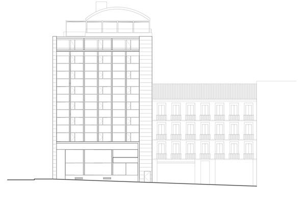 02-hotel-cubiertas-hotel-oscar-plaza-vazquez-mella-madrid-arquitectos-savorelli-noguerales-sn